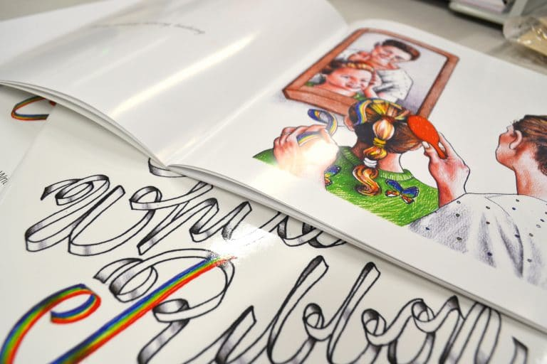 the white ribbon book printing by jennings print group