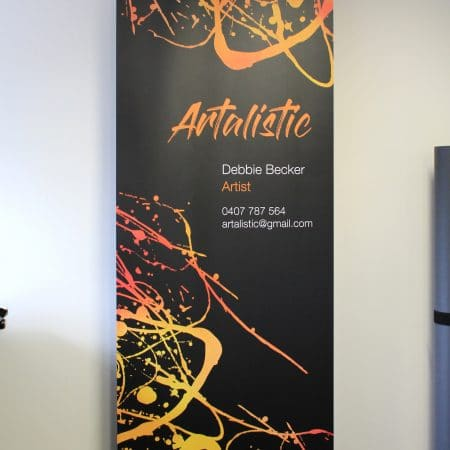 artalistic pull up standee printing by jennings print group