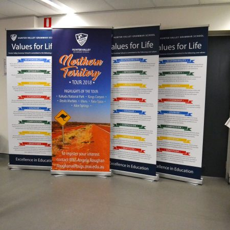 hvgs pull up standee printing by jennings print group