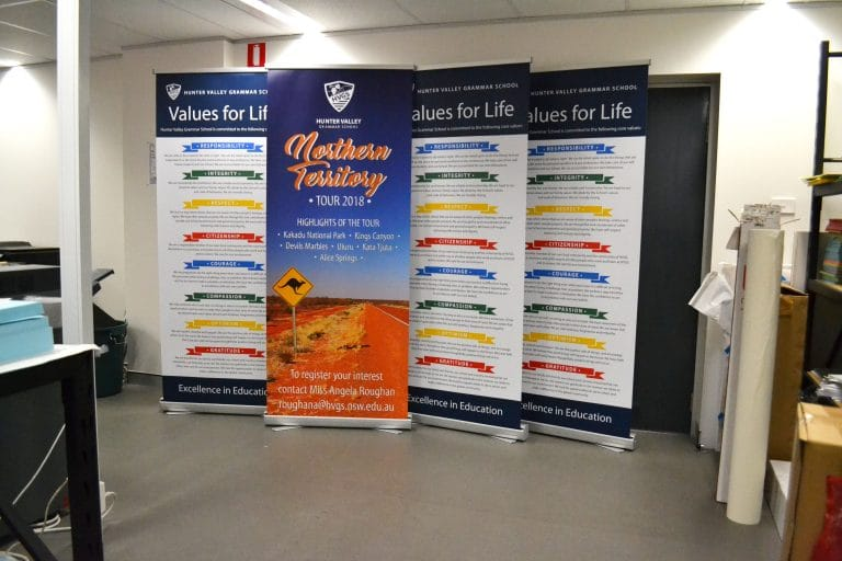 hvgs pull up standee by jennings print group