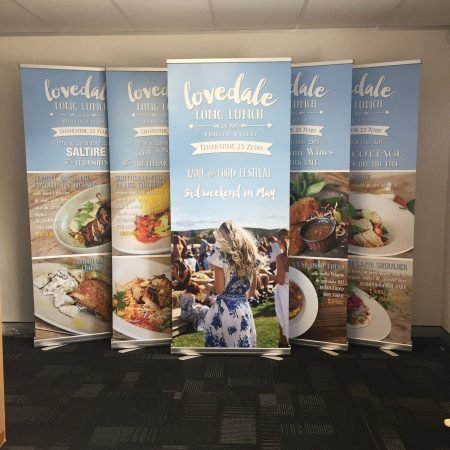 lovedale pull up standee printing by jennings print group