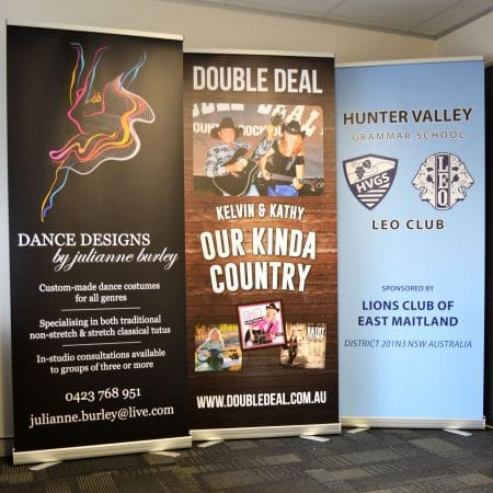 pull up standee printing by jennings print group