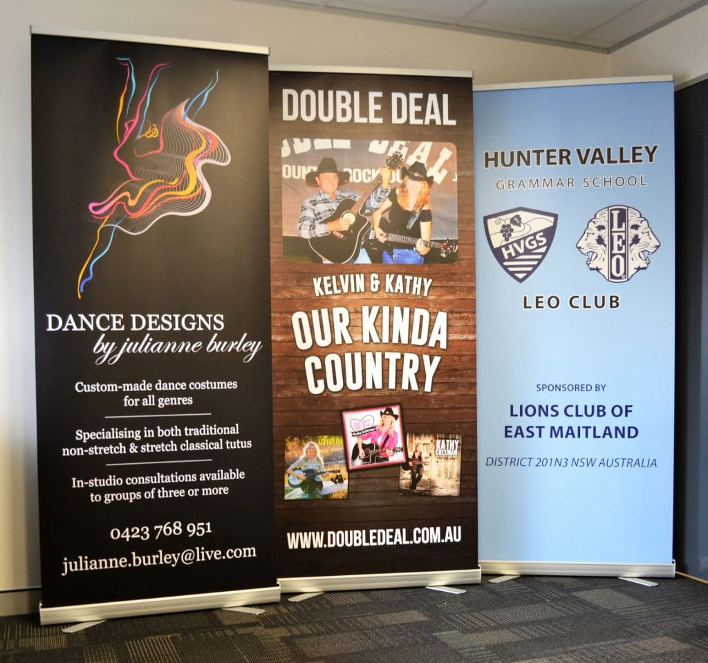 pull up standee by jennings print group