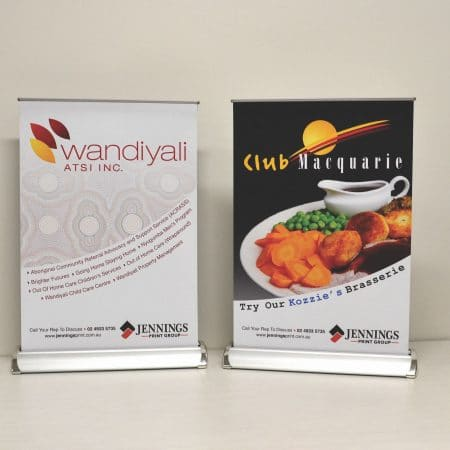 wandiyali and club macquarie pull up standee printing by jennings print group