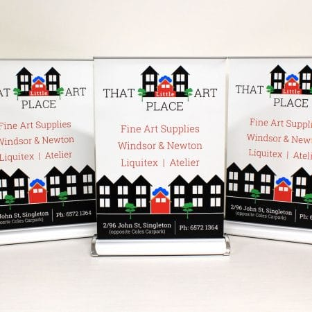 that place up pull up standee printing by jennings print group