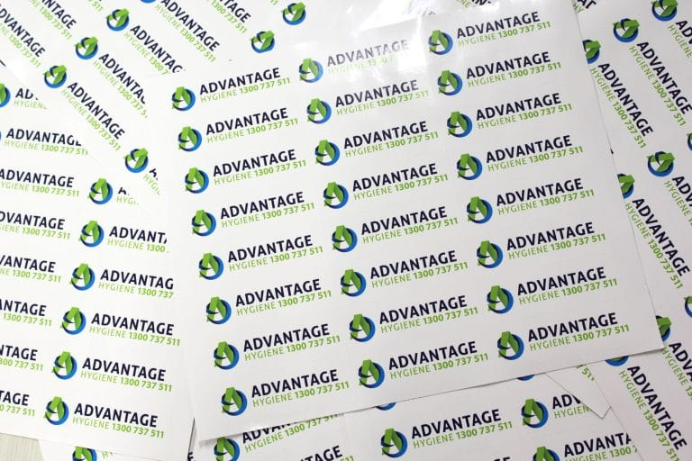 advantage group stickers printed by jennings print group