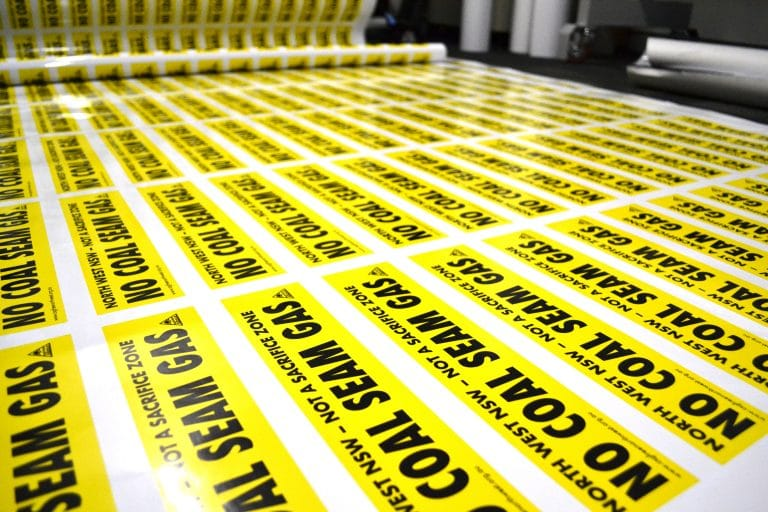 coal seam gas stickers by jennings print group