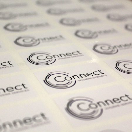 connect cleaning sticker printed by jennings print group