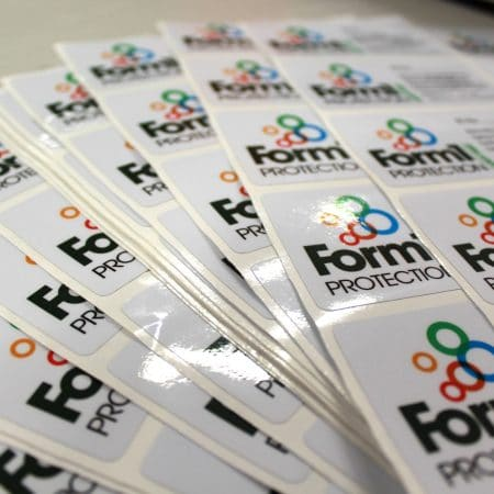 form 1 stickers printed by jennings print group