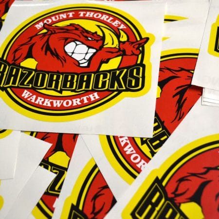 razorbacks sticker printed by jennings print group