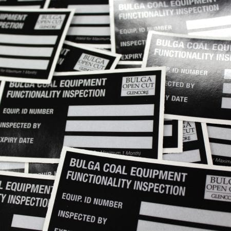 bulga open cut sticker printed by jennings print group