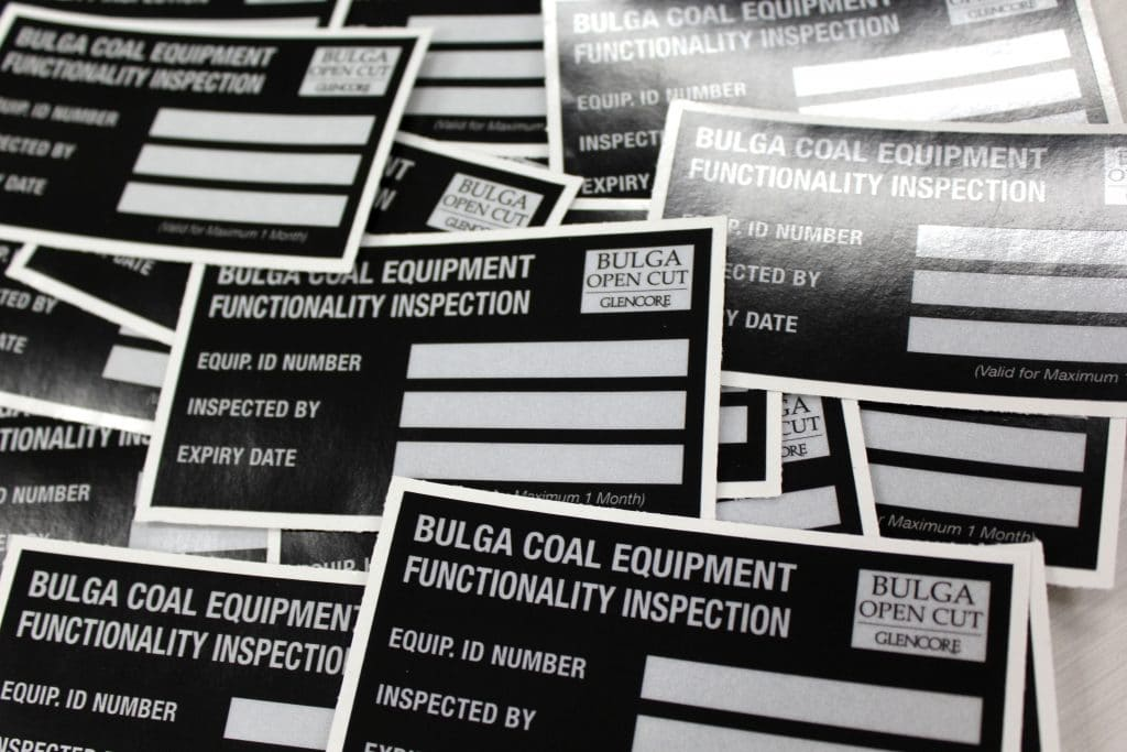 bulga open cut stickers by jennings print group