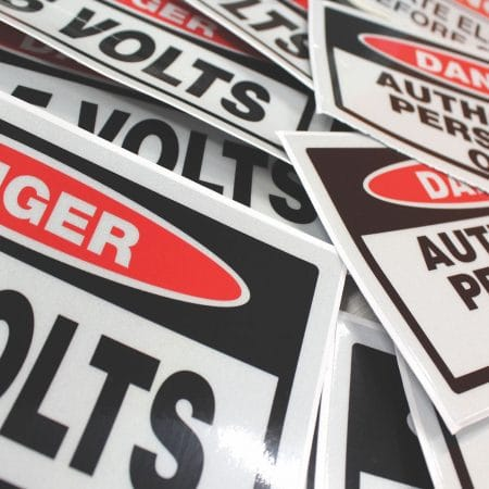 caution sticker printing by jennings print group