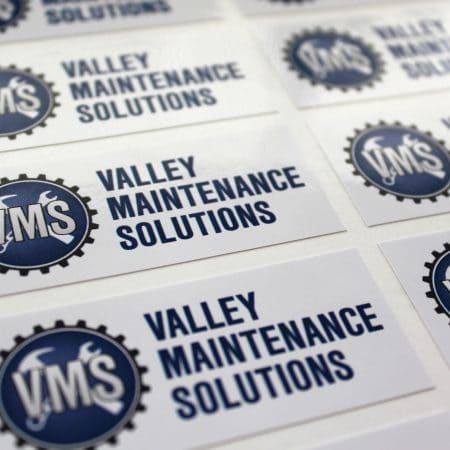 vms sticker printed by jennings print group