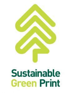 sustainability green print logo