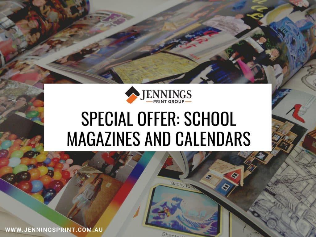 school magazine and calendars