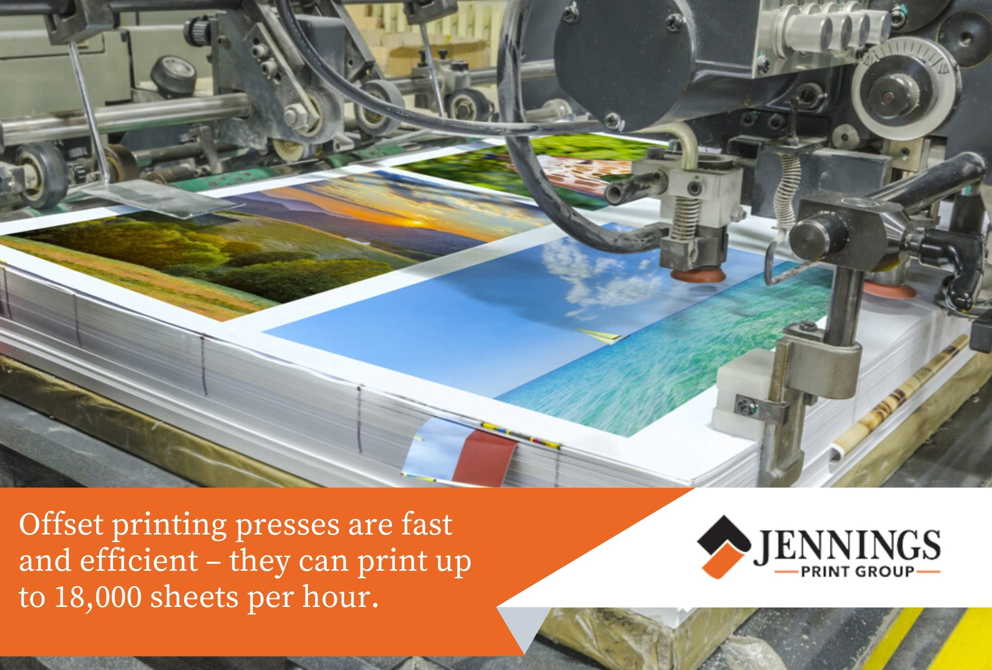 offset printing presses are fast and efficient