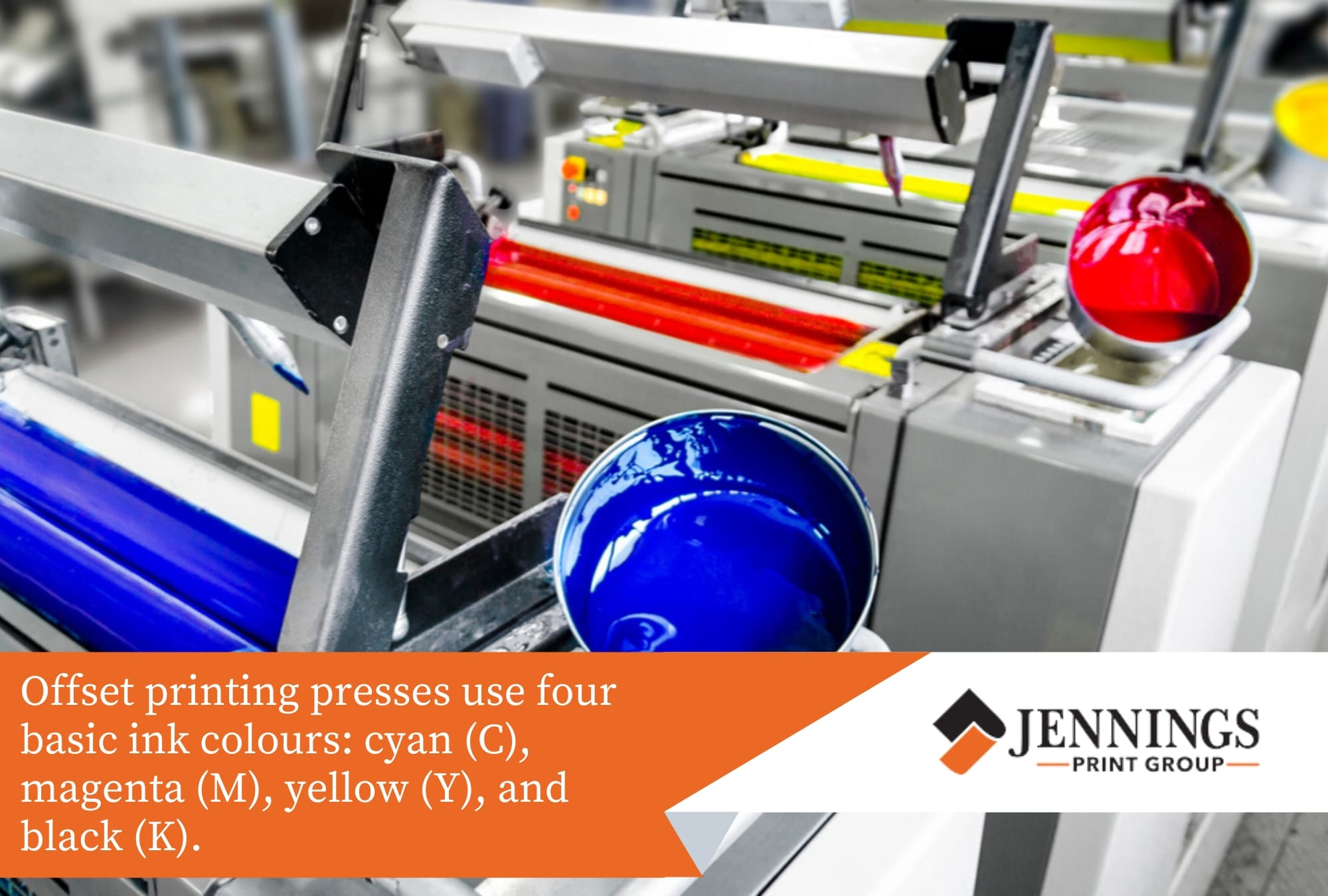 offset printing use four basic ink colours