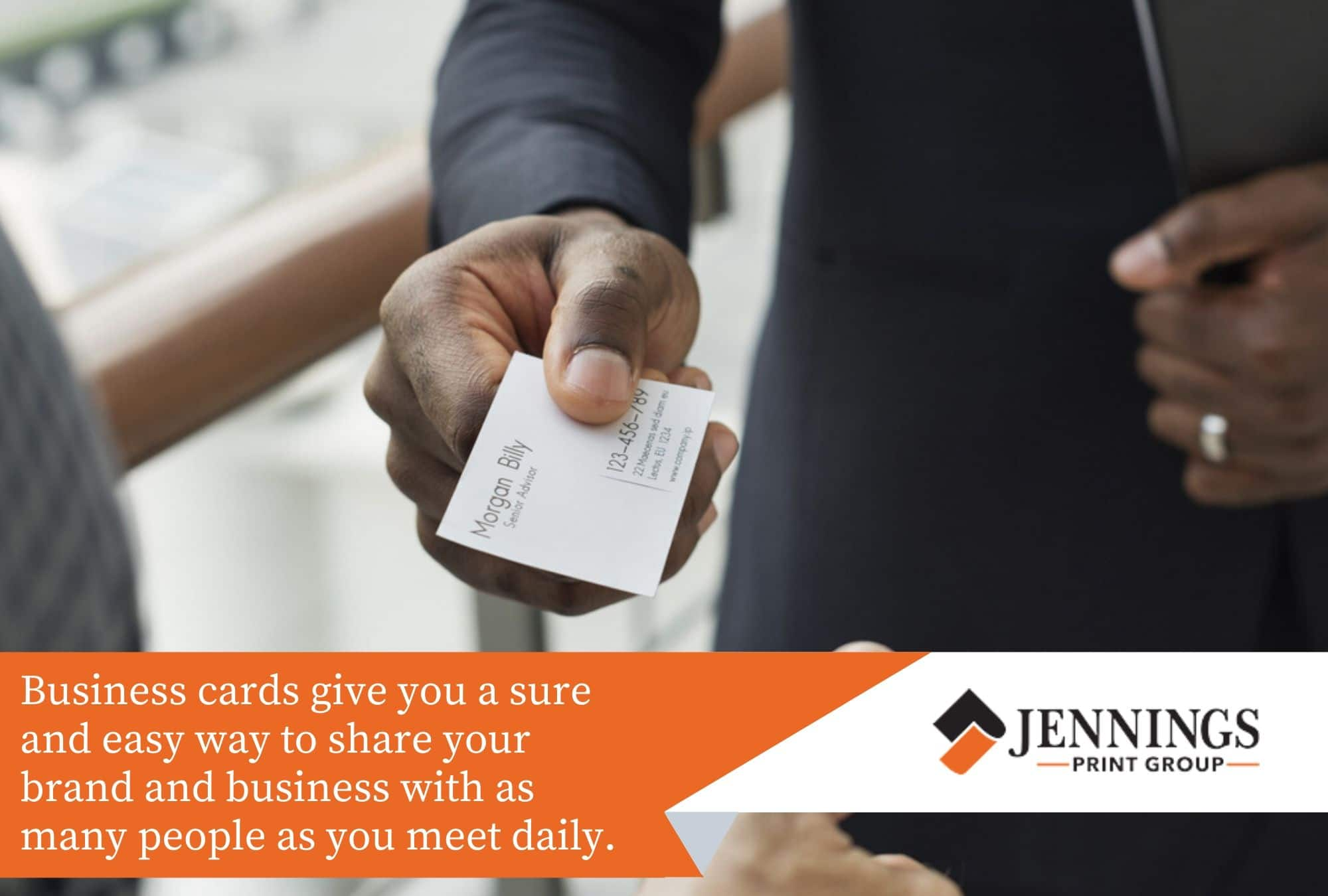 business cards are an easy and sure way to share your brand