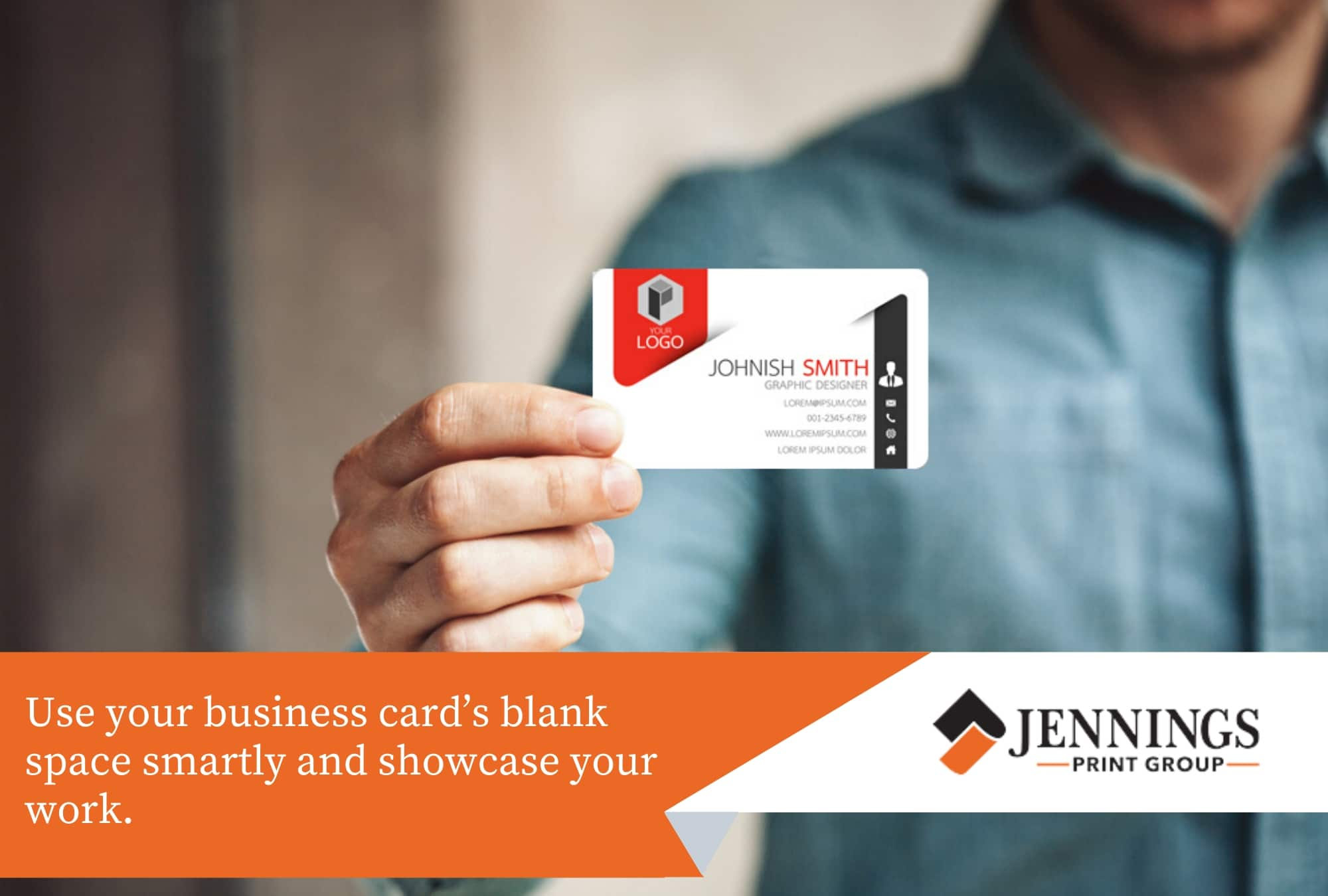 use your business card space smartly