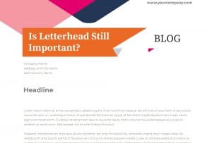 is letter head still important today?
