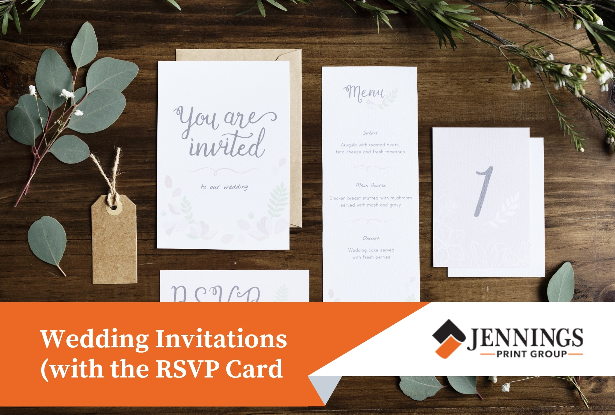 Wedding Invitation card with RSVP