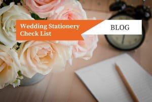 wedding stationery check list