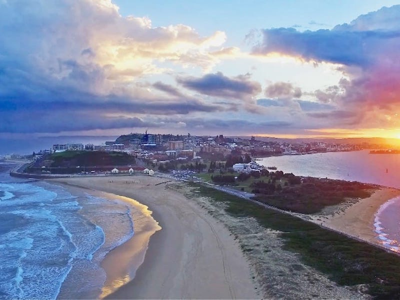Nobby's Beach at sunset, Newcastle, NSW