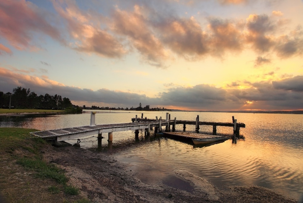 Stunning sunset at a Belmont Jetty, Lake Macquarie