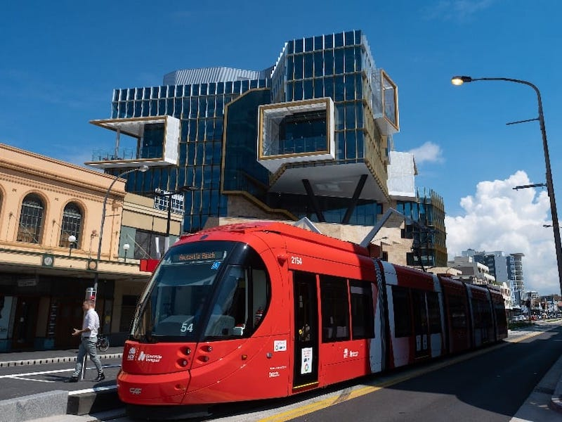 The University of Newcastle & Inner city trams