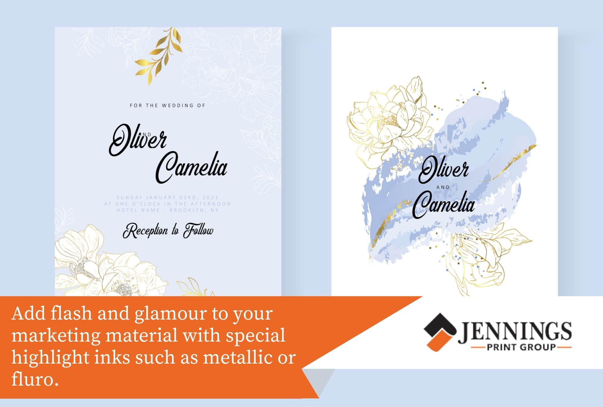 Metallic inks