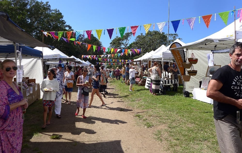 Weekend markets at Avoca Beach, Central Coast