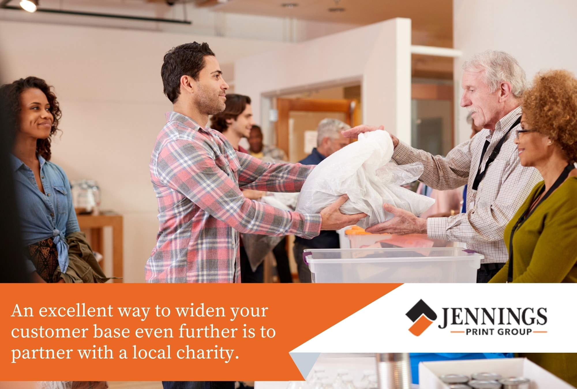 Partner with a local charity
