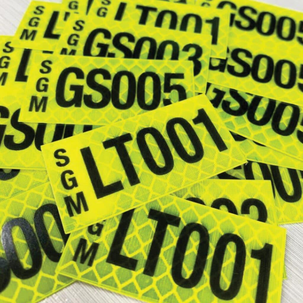 reflective sticker printing by jennings print group