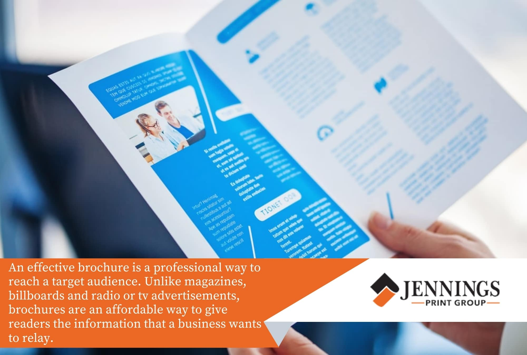 An effective brochure is a professional way