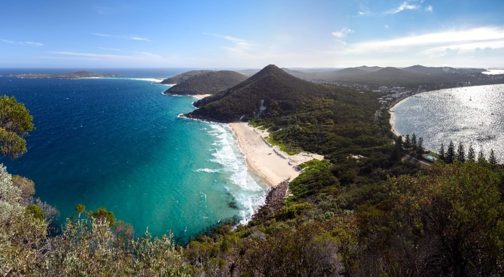 Aerial view from the top of Mount Tomaree